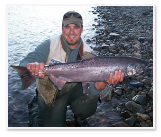 Pro-Guide Nathan Bryant holds a nice Tal King from Alaska.